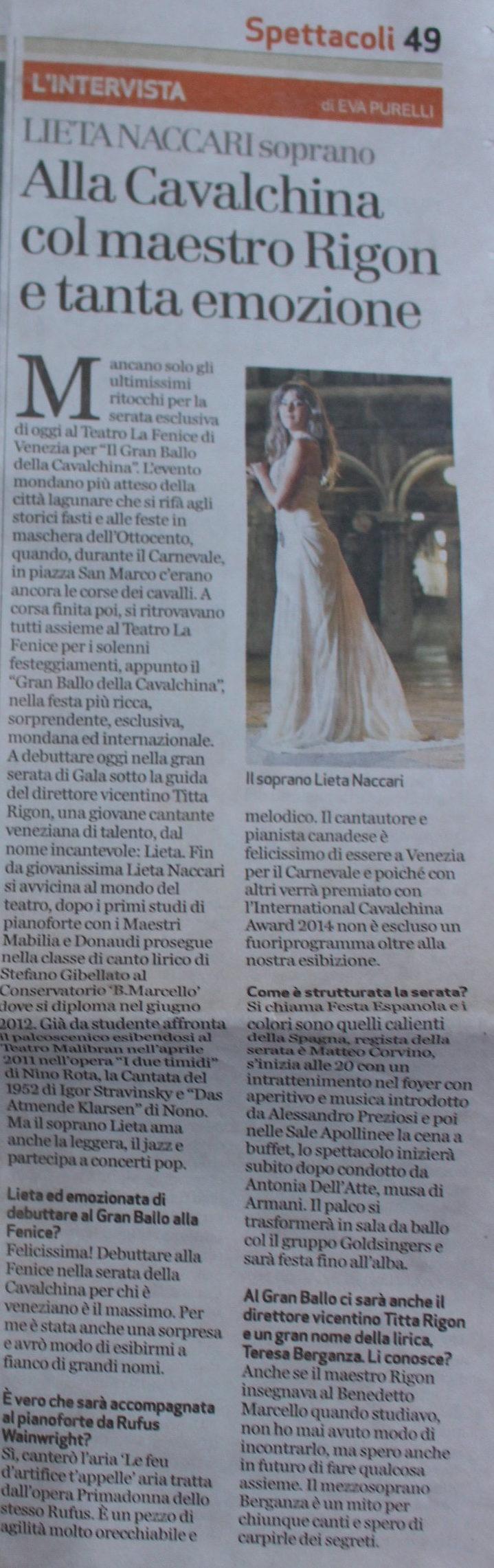 Il Giornale di Vicenza 01:03:2014