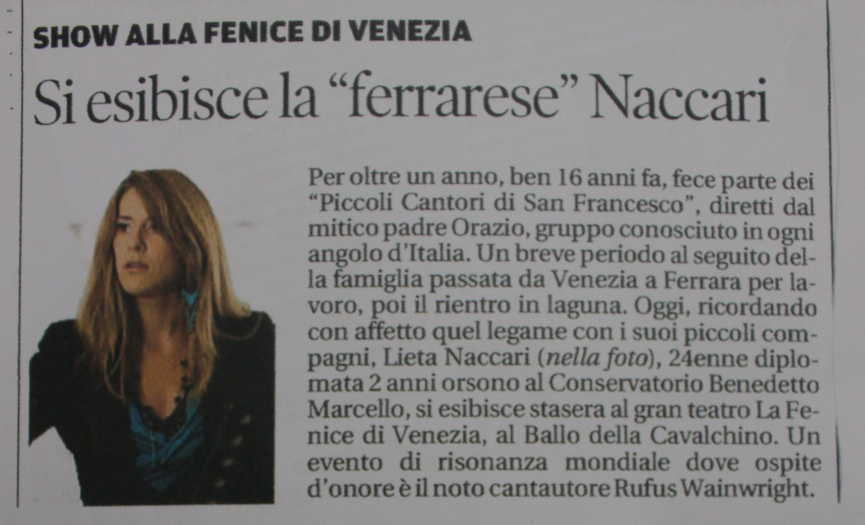 La Nuova Ferrara 28:02:2014