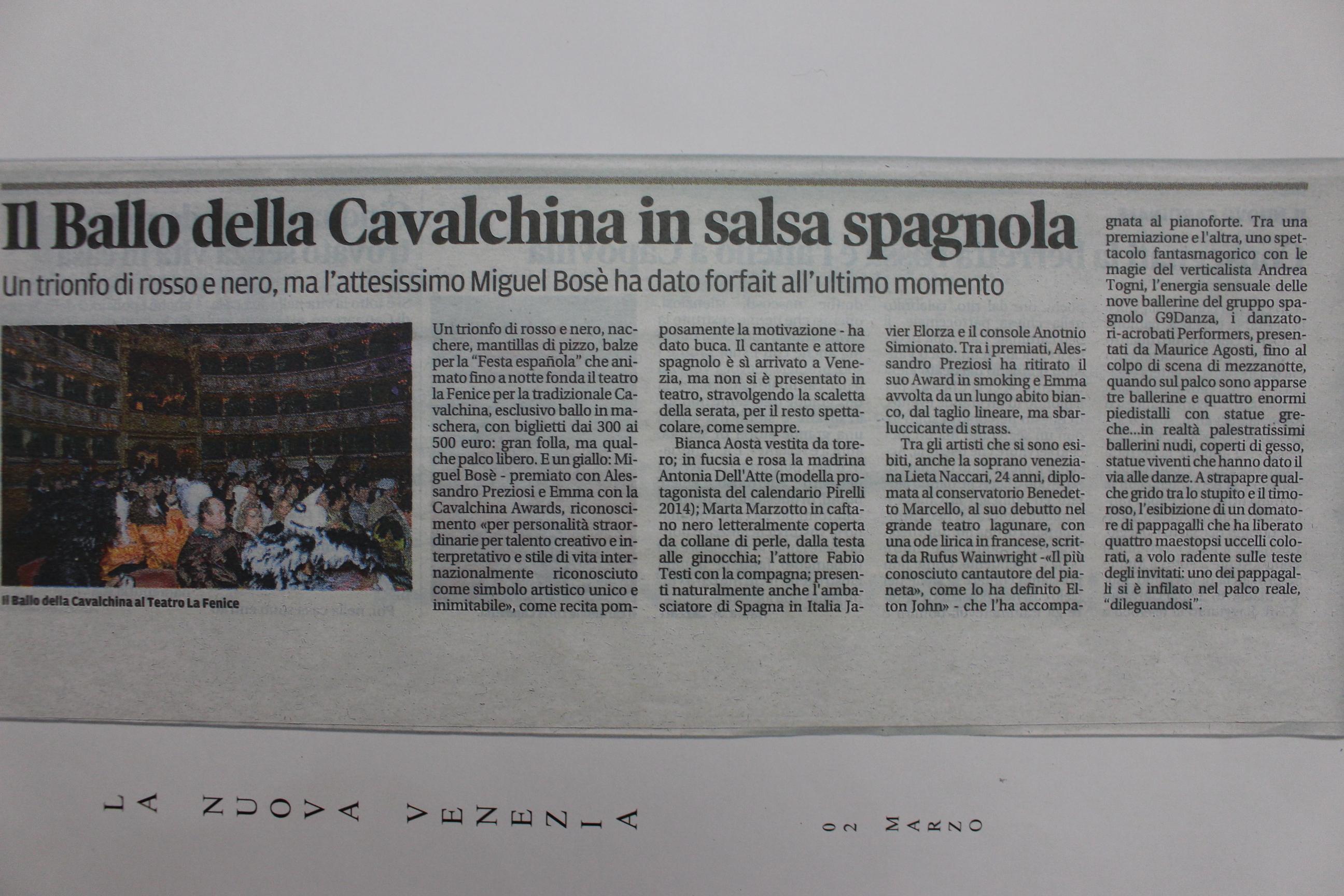 La Nuova Venezia 02:03:2014
