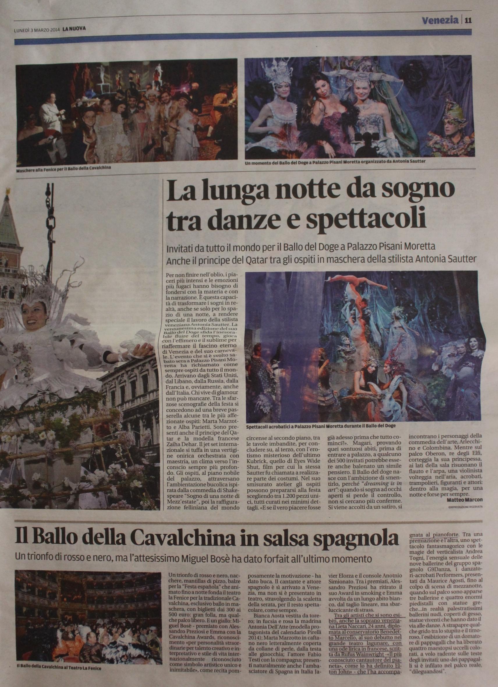 La Nuova Venezia 03:03:2014